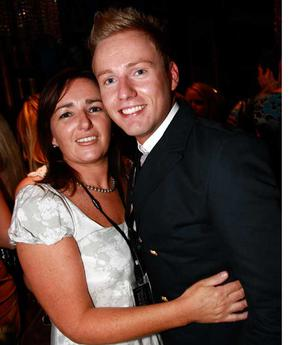 Eimear Singh and finalist Paul Cromie are pictured at the final of Pepsi Sexiest Man 2009 in association with Northern Woman. The final took place in Northern Whig, Belfast (10 September).