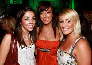 Stephanie McClean, Belfast, Rachel McConnell, Rathfriland, and Joanne Reid, Belfast, are pictured at the final of Pepsi Sexiest Man 2009 in association with Northern Woman. The final took place in Northern Whig, Belfast (10 September).