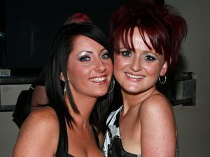 Blaithin Doherty & Eireann Stewart on a nite out at the Metro Bar in Londonderry