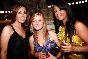 Zara McMullan, Holly Sloan and Yolanda Porter are pictured at the final of Pepsi Sexiest Man 2009 in association with Northern Woman. The final took place in Northern Whig, Belfast (10 September).