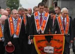 Remembrance service at Kingsmills Memorial, Bessbrook. 12 July 2011
