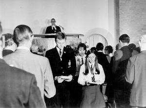 Chapel of Unity Dedication at Methodist College Belfast, 1968.