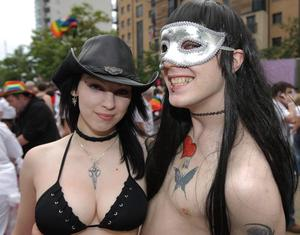 Supporters take part in the 21st Gay Pride Parade in Belfast City Centre July 2011