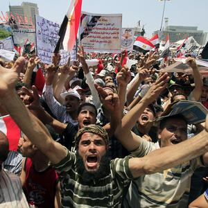 Protesters have defied military rulers and gathered in Cairo's Tahrir Square (AP)