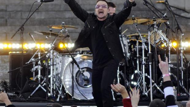 Even though Bono had not heard of Spotify U2's latest album, No Line on the Horizon, made its debut on the new music service