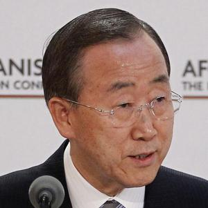 Ban Ki-moon called on rival parties in Ivory Coast to accept results from the West African nation's first election.
