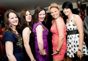 Erin Doherty, Karen Grieve, Orla Davey, Julie Anne Kirk and Heather Shanks at the Apartment Bar of the Decade Party