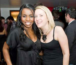 Michelle Williams and Louise McCrory at the Apartment Bar of the Decade Party