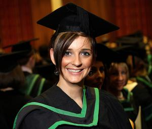 13.12.10. Picture by David Fitzgerald. Graduations yesterday from the University of Ulster in Jordanstown. Rebecca Harte who studied Health Nursing