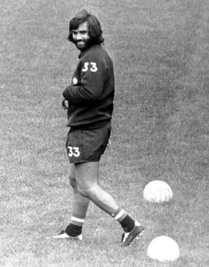 George Best in training for Manchester United