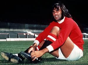 George Best footballer in Manchester United kit