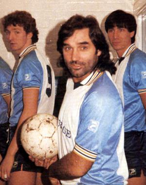 George Best with Lawrie Sanchez