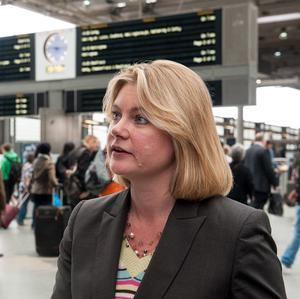 Justine Greening is under fire over her decison to award the contract for the West Coast main line to FirstGroup