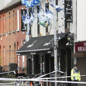 Gardai at the scene of Players Lounge in the Fairview area of Dublin