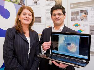 Faris Ali of FireSERT Technologies, with Julie-Ann O'Hare