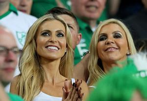 Claudine Keane, wife of Republic of Ireland's Robbie Keane in the stands during the UEFA Euro 2012, Group C match at the Municipal Stadium, Poland. PRESS ASSOCIATION Photo. Picture date: Sunday June 10, 2012. See PA Story SOCCER Republic. Photo credit should read: Niall Carson/PA Wire. RESTRICTIONS: Use subject to restrictions. Editorial use only. Book sales permitted providing not solely devoted to any one team / player / match. No commercial use. Call +44 (0)1158 447447 for further information.