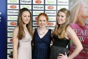 Lauren Curley, Jessica West and Tori Wallace from Ballyclare High School.