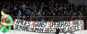 The banner at The Oval on Wednesday night