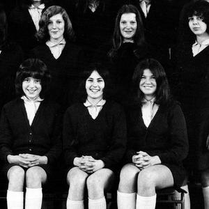<b>Pamela Ballantine </b>is pictured centre, front row, at Richmond Lodge School in 1974
