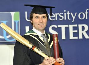 Kyle McCallan MBE, who became the First Trust/University of Ulster Distinguished Graduate of the Year 2010 at the Winter Graduation 2010 at the Jordanstown campus today