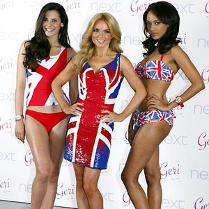 Former Spice Girl Geri Halliwell launches a Union flag clothing range