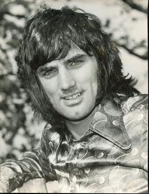 One of the images from a collection of George Best memorabilia which has been found in a bedroom wardrobe at a house in Worsley, Greater Manchester.