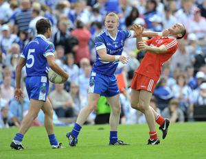 Tyrone's Brian Dooher and Monaghan's Colin Walshe