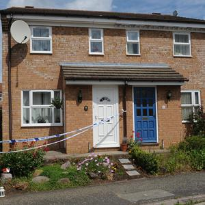 The scene where schoolgirl Megan-Leigh Peat died in the early hours of Saturday in Ampthill, Bedfordshire