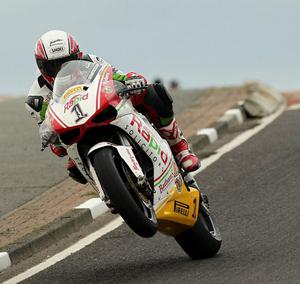 Michael Rutter  Riders Bathams  Ducati at Blacks Hill during  17th May 2011 practice for the North West 200.