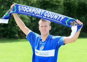Thompson joined League One side Stockport in 2008.