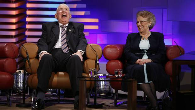 Ian Paisley and his wife Baroness Eileen Paisley chatting to Pat Kenny on the Late Late Show.KOBPIX NO FEE
