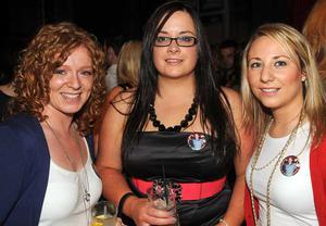 Jennifer McConville, Clare McConville and Karen Redmond are pictured at the final of Pepsi Sexiest Man 2009 in association with Northern Woman. The final took place in Northern Whig, Belfas