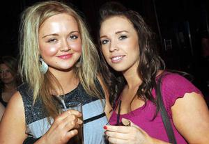 Christina Healy and Maeve McLoughlin are pictured at the final of Pepsi Sexiest Man 2009 in association with Northern Woman. The final took place in Northern Whig, Belfast