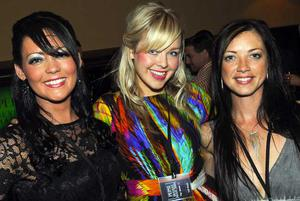Margaret Kelly, Sara Girvin Stephanie Houston and are pictured at the final of Pepsi Sexiest Man 2009 in association with Northern Woman. The final took place in Northern Whig, Belfast.