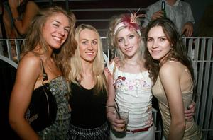 Laura Williams, Catherine McKee, Megan McConnell and Thailia at Style Academy's 18th Birthday bash in the Rain Night Club.