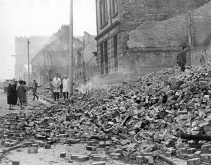 Riots : Belfast. August 1969.  Aftermath of the riots in Divis Street.  (15/8/69)