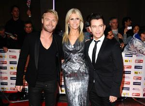 5/10/2009 Ronan Keating, his wife Yvonne and Stephen Gately arriving at The Pride of Britain Awards 2009, Grosvenor House Hotel, Park Lane, London