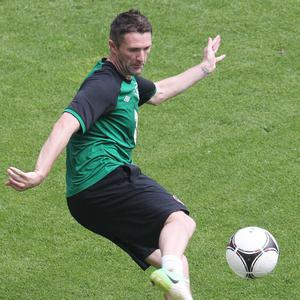 Robbie Keane is one of five senior national players on the injury list