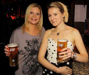 Joanne Bell and Louise Mackey at the Harp Ice Cold Big Gig