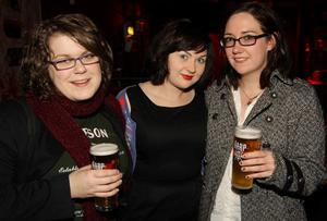 Jenny Atcheson, Colette McHugh and Dawn Scott at the Harp Ice Cold Big Gig