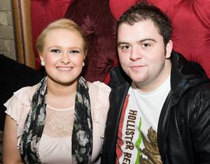 Orlaith Benson and John Curley at the Audiopicnic Comedy Night in The Roost