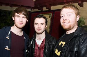 Fergal and Conall McQuillan and Niall Adams at the Audiopicnic Comedy Night in The Roost