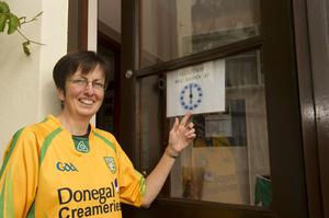 Mary Bradley closing her BandB to watch the final in Downing Co.Donegal for the Final. Puc By Philip Fitzatrick