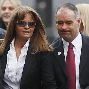 Former Scottish Socialist Party leader Tommy Sheridan arrives at Glasgow High Court with wife Gail