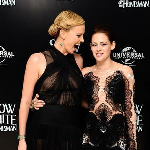 Kristen Stewart said she feels great when she's around Charlize Theron