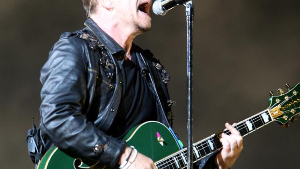 Bono of U2 performs onstage on the first night of their 360 tour held at Camp Nou on June 30, 2009 in Barcelona, Spain