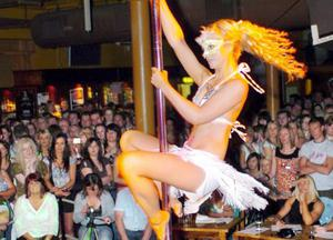 Audience enjoy Northern Ireland's second ever pole dancing contest held at Spring and Airbreak in Belfast