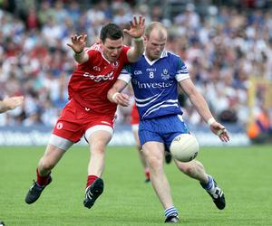 Monaghan's Dick Clerkin with Conor Gormley of Tyrone