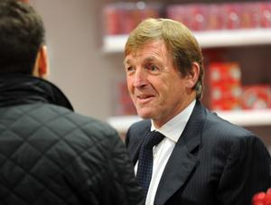 Liverpool legend Kenny Dalglish at the new Liverpool superstore in Belfast