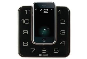 <b>5. Best for low budgets </b><br/> Exspect TIMESpeaker dock <br/> Wake to an FM radio, buzzer or a song from your playlist. There's a cunning app which means your iPhone looks like it's part of the clock. It works with the iPhone 4, 3G and 3GS as well as the iPod touch.  <br/>  £49.99 <br/> amazon.co.uk